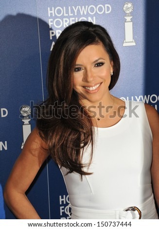 Eva Longoria at the Hollywood Foreign Press Association's 2013 Annual Luncheon at the Beverly Hilton Hotel. August 13, 2013  Beverly Hills, CA - stock photo