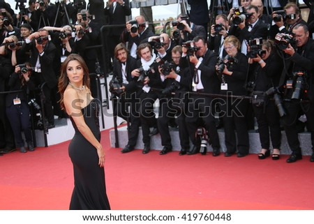 Eva Longoria  attends the 'Money Monster' Premiere during the 69th annual Cannes Film Festival on May 12, 2016 in Cannes, France. - stock photo