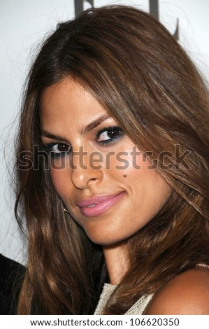 Eva Mendes  at ELLE Magazine's 15th Annual Women in Hollywood Event. Four Seasons Hotel, Beverly Hills, CA. 10-06-08 - stock photo