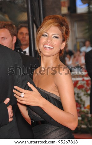 "Eva Mendes at screening for ""We Own the Night"" at the 60th Annual International Film Festival de Cannes. May 25, 2007  Cannes, France.  2007 Paul Smith / Featureflash"