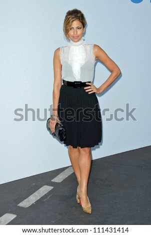 Eva Mendes at the 2007/2008 Chanel Cruise Show Presented by Karl Lagerfeld. Hanger 8, Santa Monica, CA. 05-18-07 - stock photo