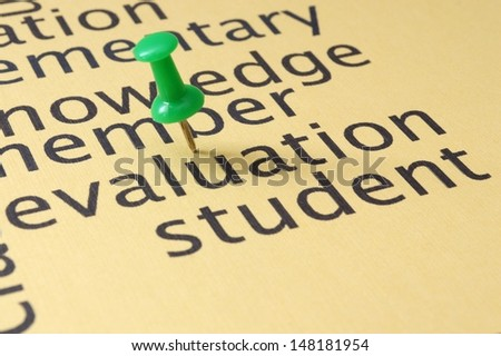 Evaluation student concept - stock photo