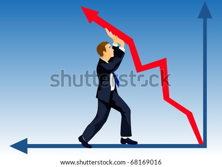 Even crisis won't prevent to lift the company quotation - stock photo