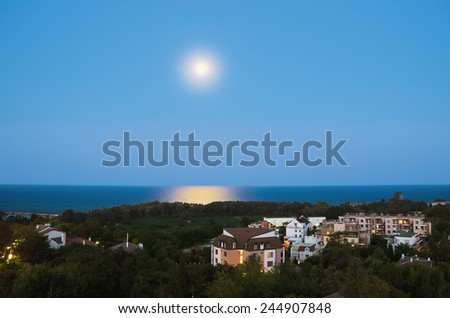 Evening At The St. St. Konstantin And Elena, Varna, Bulgaria  - stock photo
