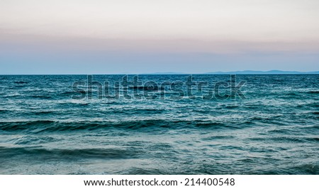 Evening black sea landscape - stock photo