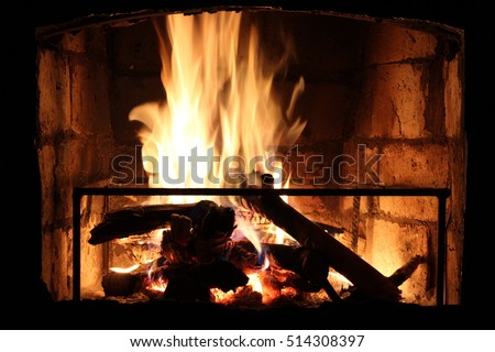 evening by the fireplace