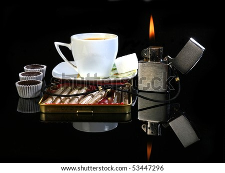 Evening of the business woman - stock photo