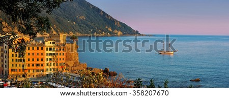 Evening panorama of Camogli