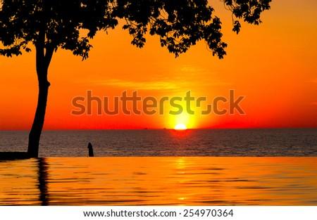 Evening Relaxation Romantic Villa  - stock photo