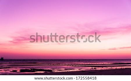 Evening Scene Sunset Glow  - stock photo