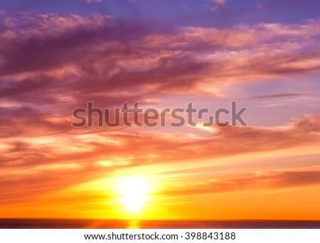 Evening Scene Sunset Paradise  - stock photo