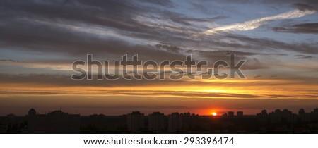 evening sky - stock photo