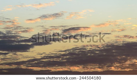 evening sky  and cloud background - stock photo