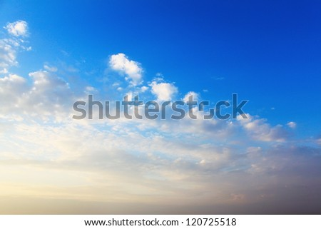 Evening sky background - stock photo