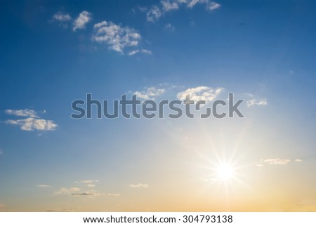 evening sky background
