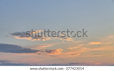 evening sky for backgrounds and compositions - stock photo