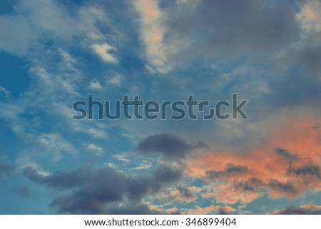 Evening sky. Vintage effect.  - stock photo
