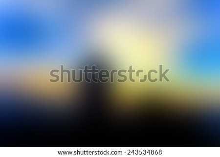 evening sunset blur on hill abstract background - stock photo