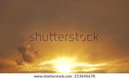 Evening sunset sky.  - stock photo