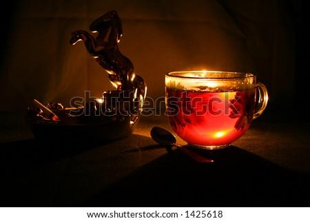 Evening tea - stock photo