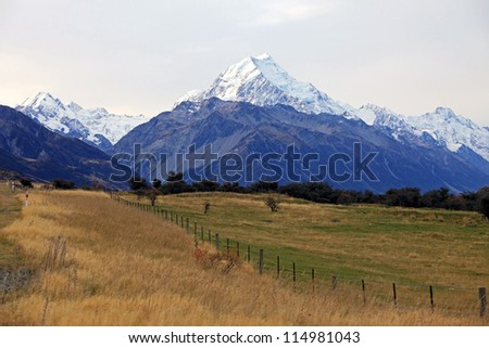 Evening View of Mount Cook, New Zealand
