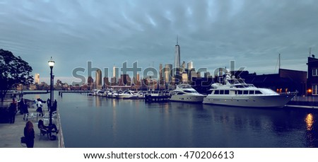 Evening view of New York. USA
