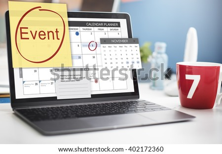 Event Celebration Occasion Happening Schedule Concept - stock photo