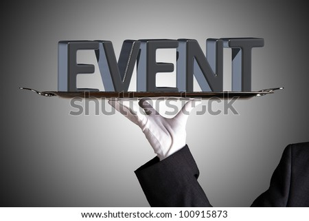 event on grey