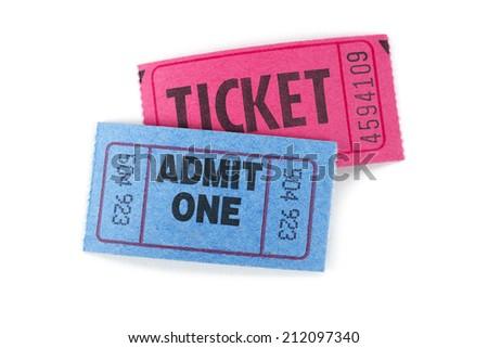 Event ticket  - stock photo