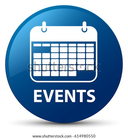 events calendar icon isolated on blue round button abstract - Events Calendar