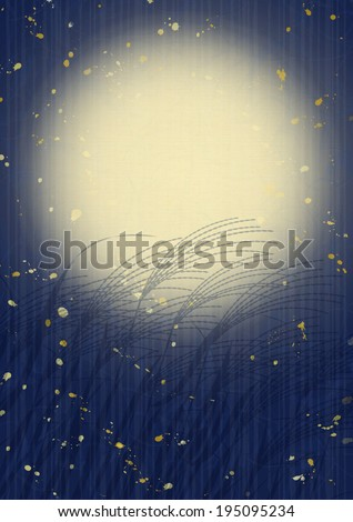 """Events of the fall of Japan """"viewing the moon"""" - stock photo"""