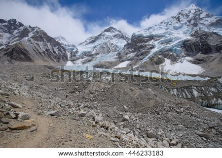 Everest base camp. Taken in the base camp of north side Everest. Over here, altitude is 5200m.