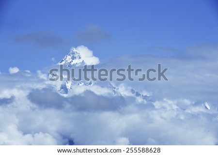 Everest Region of the Himalayas, Nepal. - stock photo