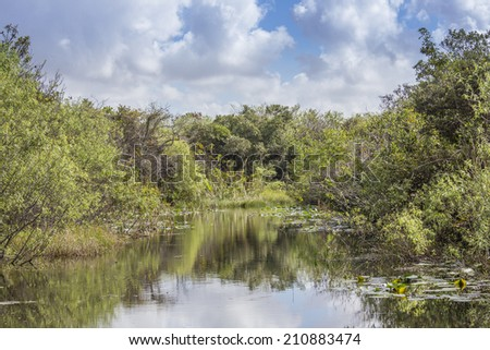 Everglades Canal in Florida, USA