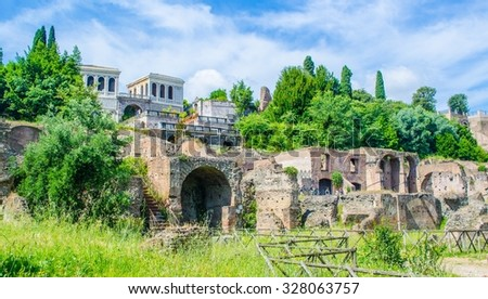 every year thousands of tourist stroll through ruins of forum romanum in italian capital rome, which used to be city center during antique time.