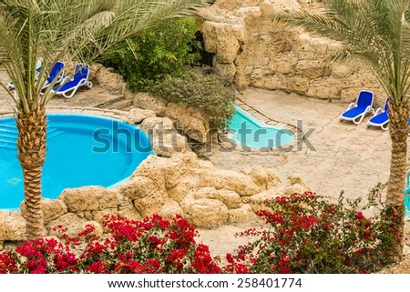 Everything for leisure travelers on a sunny day - stock photo
