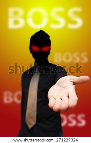 Evil boss - stock photo