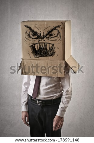 evil box - stock photo