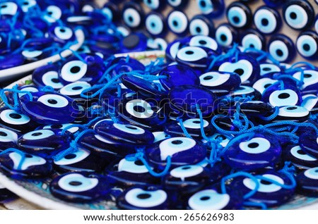 Evil-eye amulets at turkish bazaar