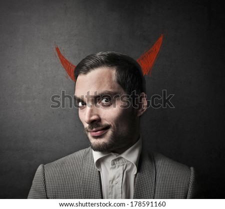 evil man - stock photo