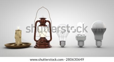 Evolution of lighting & Evolution Lighting Stock Illustration 280630649 - Shutterstock azcodes.com