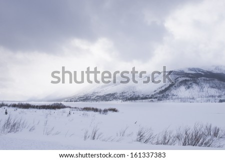 EWinter landscape of the Great Teton national park.