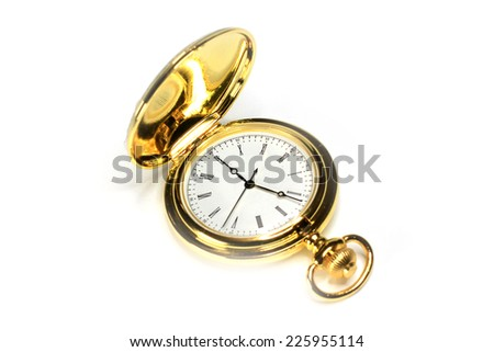 exact watch in metallic body as instrument of the measurement time