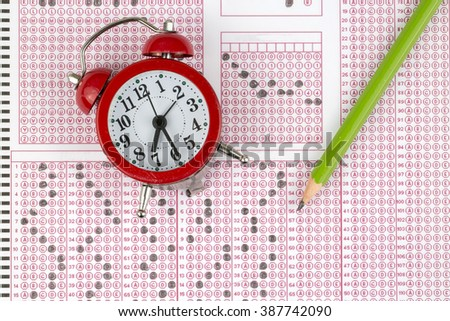 Exam Test - stock photo