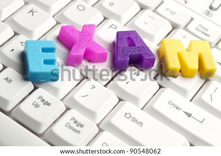 Exam Word Made By Colorful Letters Stock Shutterstock