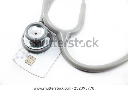 Examination of credit card spending. - stock photo