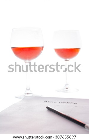 examination of the wine and notes the results