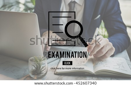 Examination Research Investigation Discovery Concept - stock photo