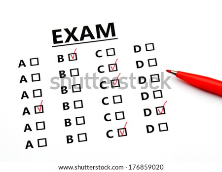 Examination sheet - stock photo
