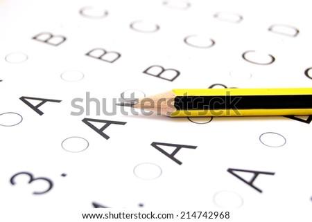 Examination test list - stock photo